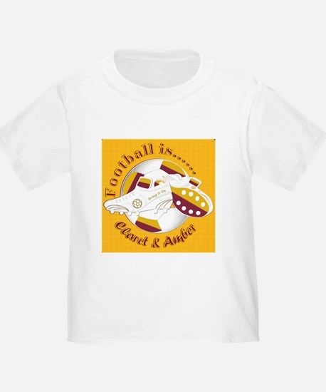 Claret and Amber Football Soccer T-Shirt