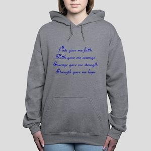 Pain Gave Me Faith Women's Hooded Sweatshirt