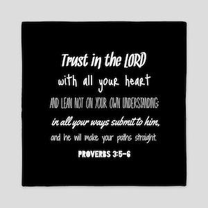 Bible Verse Gifts Proverbs 3:5-6 Queen Duvet