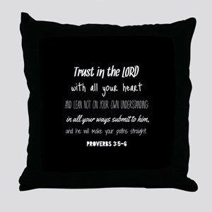 Bible Verse Gifts Proverbs 3:5-6 Throw Pillow
