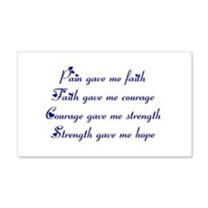 Pain Gave Me Faith Wall Decal