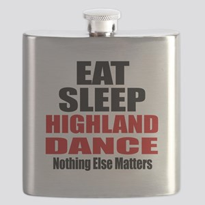 Eat Sleep Highland Dance Flask