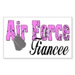 Air Force Fiancee Rectangle Sticker