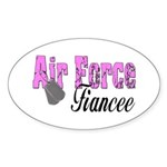 Air Force Fiancee Oval Sticker
