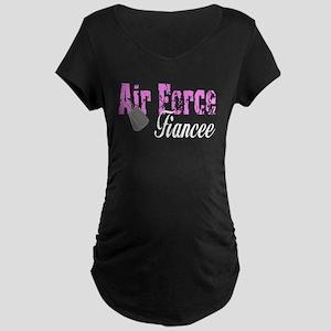 Air Force Fiancee Maternity Dark T-Shirt
