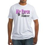 Air Force Fiancee Fitted T-Shirt