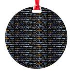 27 Sharks in negative pattern Ornament