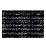 27 Sharks in negative pattern Postcards (Package o