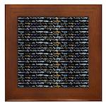 27 Sharks in negative pattern Framed Tile