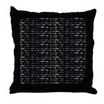 27 Sharks in negative pattern Throw Pillow