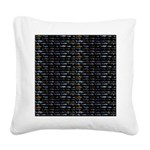 27 Sharks in negative pattern Square Canvas Pillow