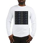 27 Sharks in negative pattern Long Sleeve T-Shirt
