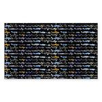 27 Sharks in negative pattern Sticker