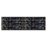 27 Sharks In Negative Pattern Bumper Sticker