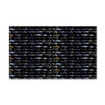 27 Sharks in negative pattern Wall Decal