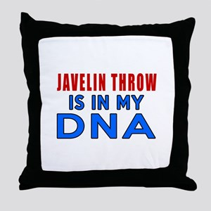 Javelin Throw Is In My DNA Throw Pillow
