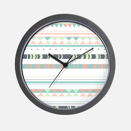 Native Pattern Wall Clock