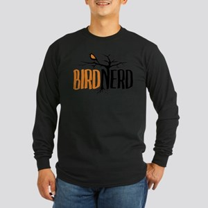 Bird Nerd (Black and Orange) Long Sleeve T-Shirt