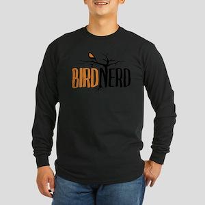 Bird Nerd (Black and Orange) Long Sleeve T-Shirt