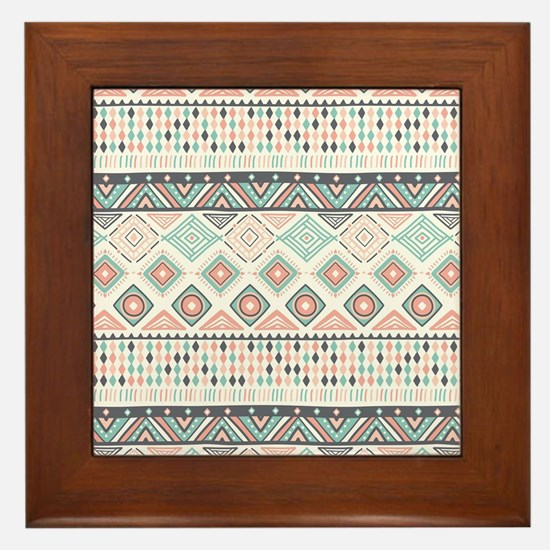 Native Pattern Framed Tile