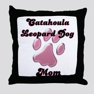 Catahoula Mom3 Throw Pillow