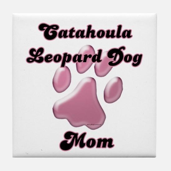 Catahoula Mom3 Tile Coaster
