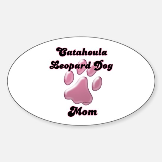 Catahoula Mom3 Oval Decal