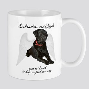 Black Lab Angel Stainless Steel Travel Mugs