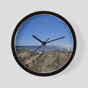 Beach walkway Wall Clock