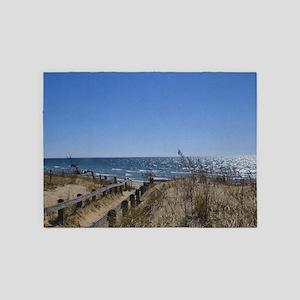 Beach Walkway 5 X7 Area Rug