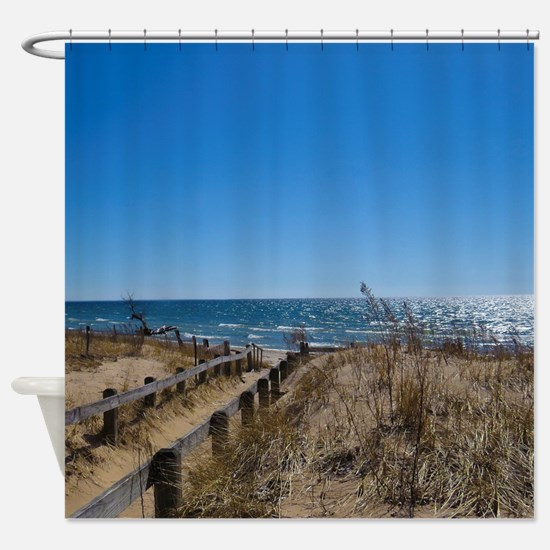 Beach walkway Shower Curtain