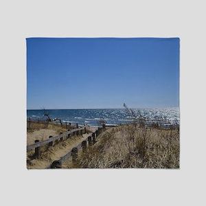 Beach walkway Throw Blanket