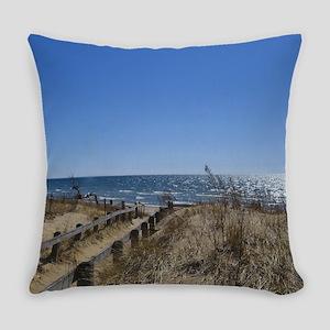 Beach walkway Everyday Pillow