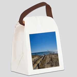 Beach walkway Canvas Lunch Bag