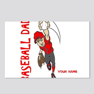 PERSONALIZED BASEBALL DAD Postcards (Package of 8)