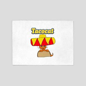 Taco cat 5'x7'Area Rug