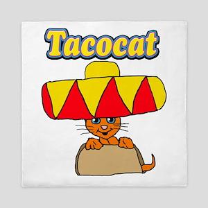 Taco cat Queen Duvet