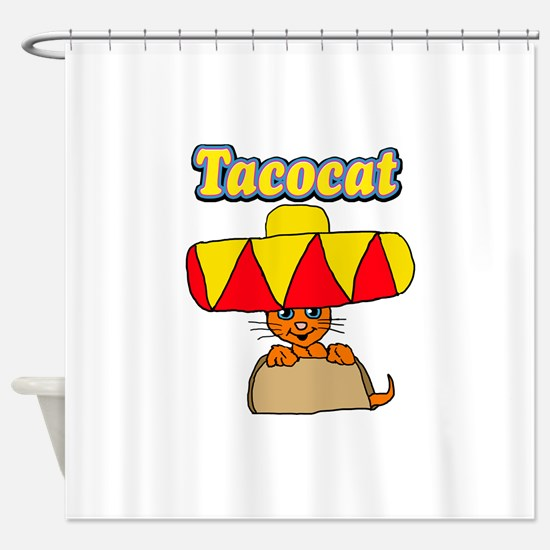 Taco cat Shower Curtain