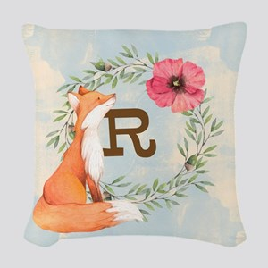 MONOGRAM Woodland Fox Woven Throw Pillow
