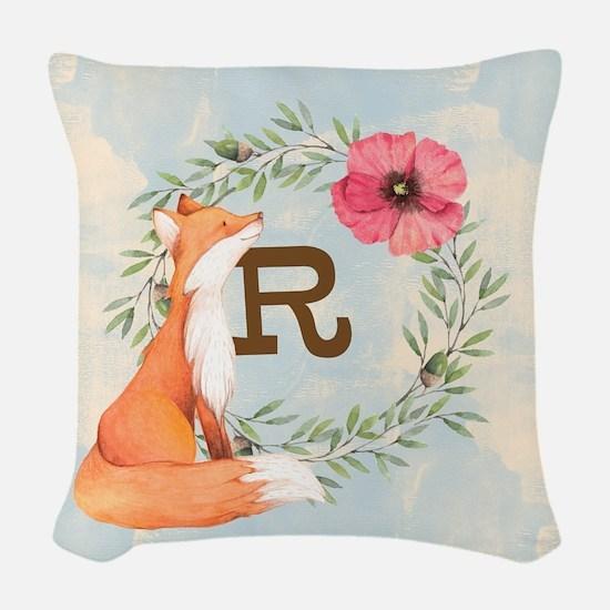 MONOGRAM Woodland Fox Woven Throw Pillow