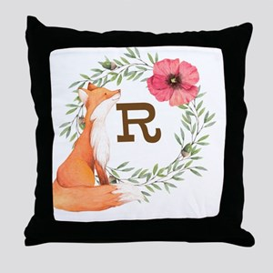 MONOGRAM Woodland Fox Throw Pillow