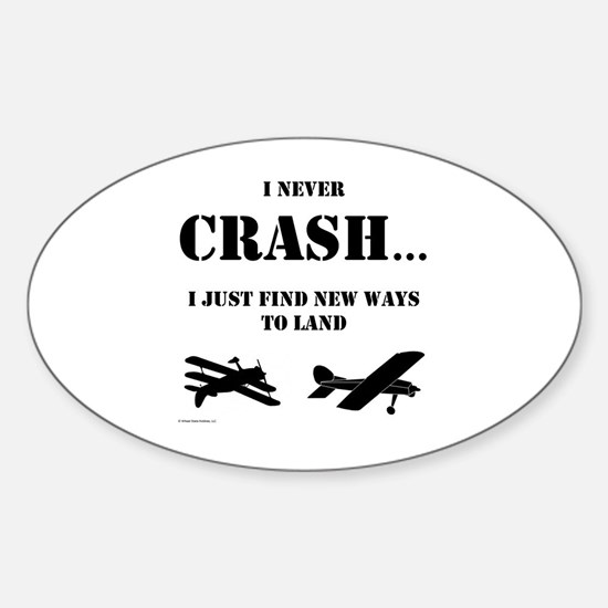 Cute Airplanes Sticker (Oval)