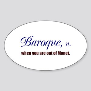 Baroque Oval Sticker