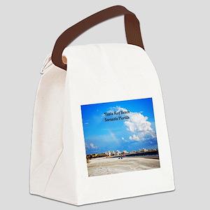 Siesta Key Beach Canvas Lunch Bag