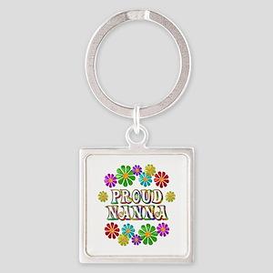 Proud Nanna Square Keychain