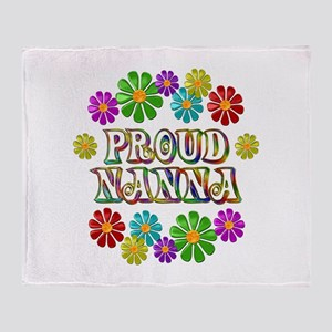 Proud Nanna Throw Blanket