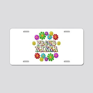 Proud Nanna Aluminum License Plate