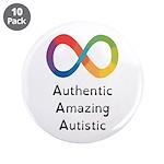 "Autism Pride, 3.5"" Button (10 Pack)"