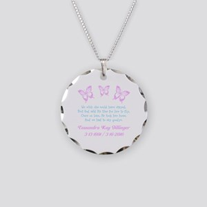 Personalize/Ours On Loan Necklace Circle Charm
