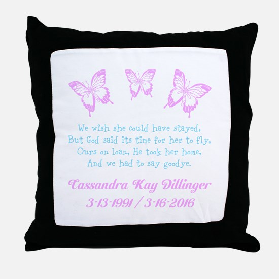 Personalize/Ours On Loan Throw Pillow
